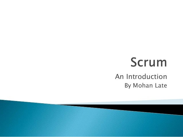An Introduction By Mohan Late