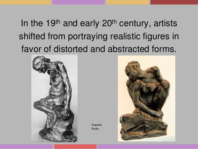 In the 19th and early 20th century, artists shifted from portraying realistic figures in favor of distorted and abstracted...