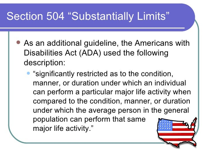 an introduction to the history of the americans with disabilities act The americans with disabilities act prohibits discrimination more disabled individuals work for the federal government right now than at any time in history.