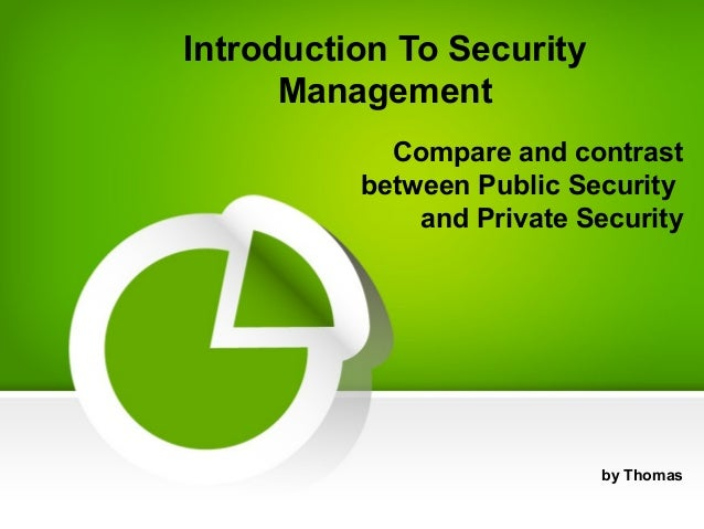 relationship between private and public security