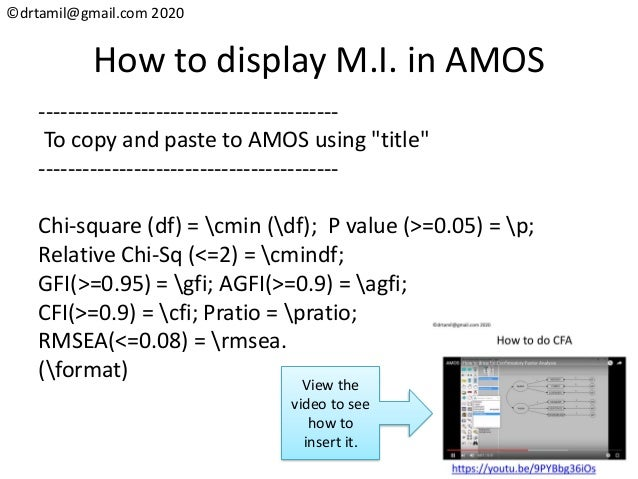 ©drtamil@gmail.com 2020 How to display M.I. in AMOS ----------------------------------------- To copy and paste to AMOS us...
