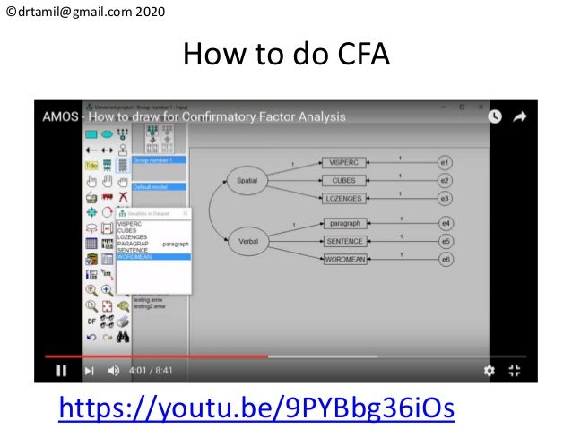 ©drtamil@gmail.com 2020 How to do CFA https://youtu.be/9PYBbg36iOs
