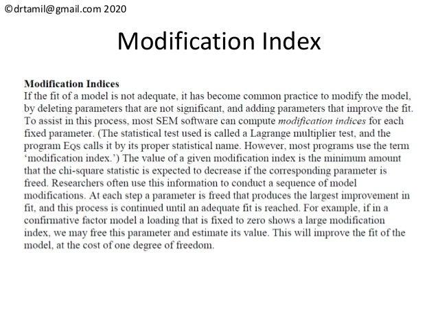©drtamil@gmail.com 2020 Modification Index
