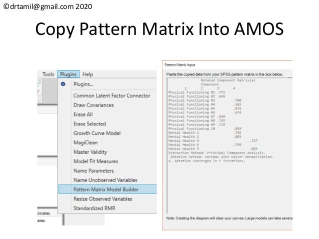 ©drtamil@gmail.com 2020 Copy Pattern Matrix Into AMOS