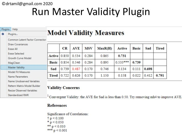 ©drtamil@gmail.com 2020 Run Master Validity Plugin