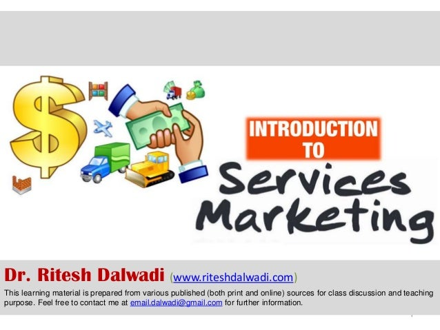 service marketing introduction Read service marketing - an introduction an introduction by daniel hischer with rakuten kobo seminar paper from the year 2008 in the subject business economics - marketing, corporate communication, crm, market res.