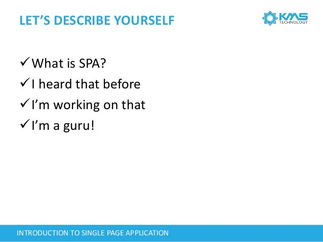 Introduction To Single Page Application Slide 3