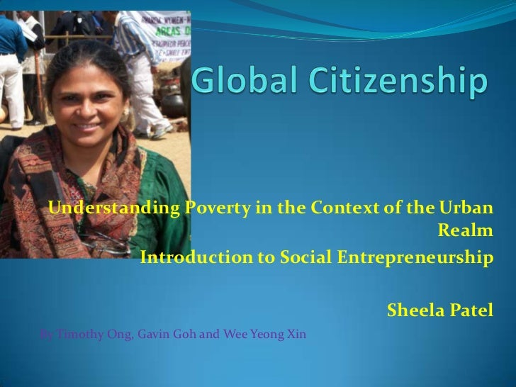 Understanding Poverty in the Context of the Urban                                             Realm          Introduction ...
