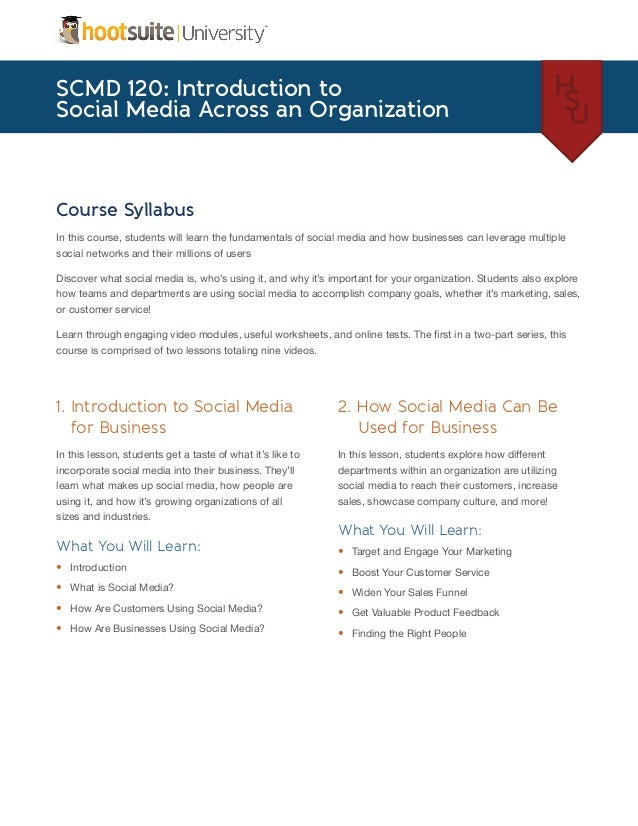 Intro to Social Media Across An Organization