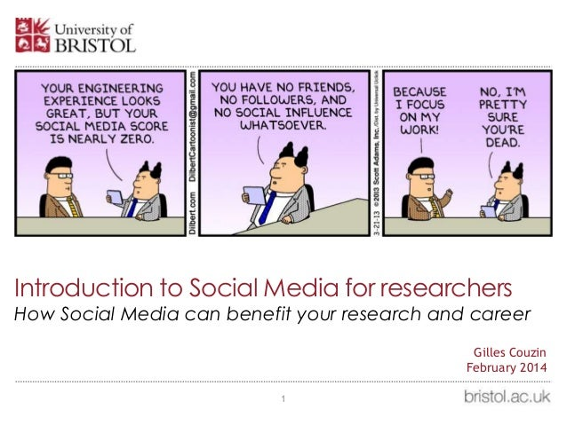 Introduction to Social Media for researchers How Social Media can benefit your research and career 1 Gilles Couzin Februar...