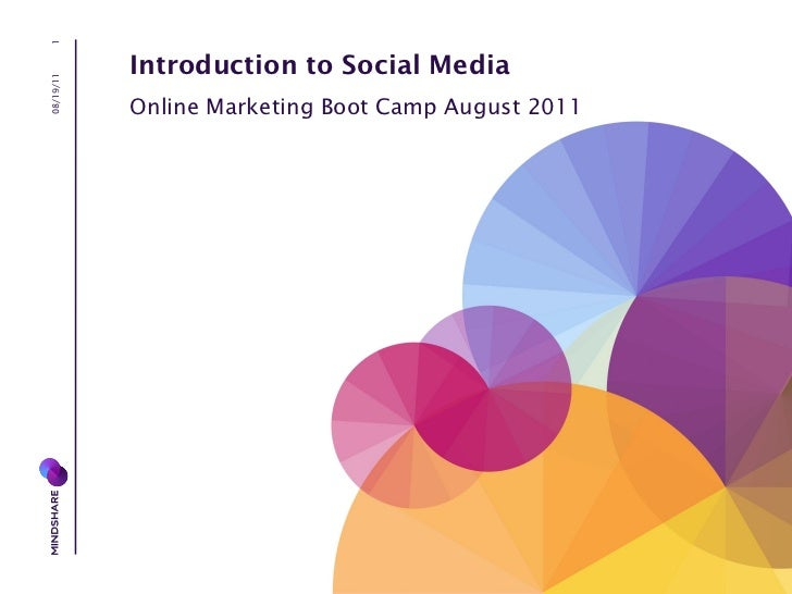 08/19/11 Introduction to Social Media Online Marketing Boot Camp August 2011