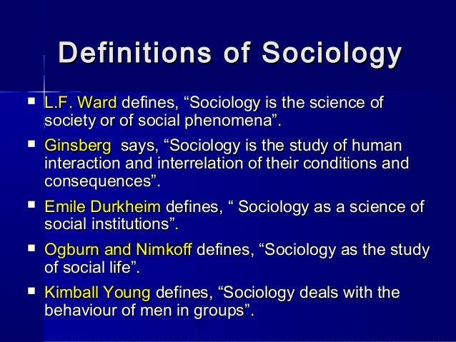 sociology introduction School of distance education introduction to sociology core course - 2 ba sociology ii semester (2011 admission onwards) university of calicut school of distance education.