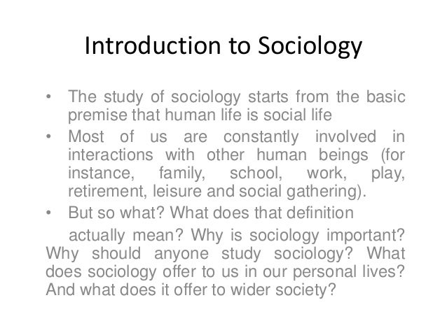 Contd…. • The word sociology itself actually derives from the Latin word socius (companion) and the Greek word logos (stud...