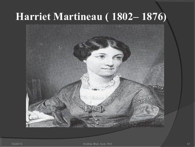 The sociological framework of harriet martineau