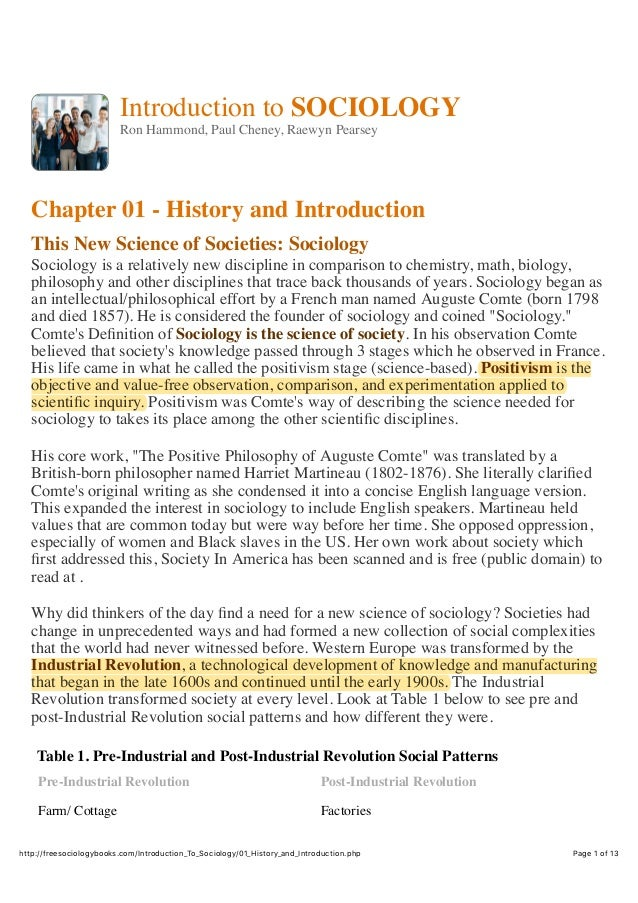 the history of theories of sociology The three major sociological theories through both the acknowledgement of biography and history within the context of sociology.