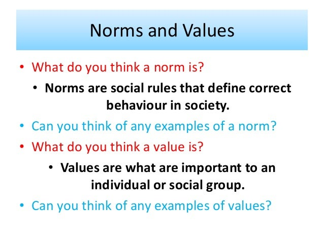 Sociology and values