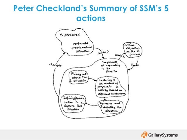 dissertation using soft systems by checkland ^checkland, peter b & poulter, j (2006) learning for action: a short definitive account of soft systems methodology and its use for practitioners, teachers and students .