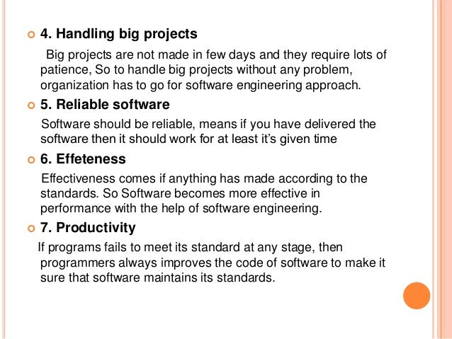 Introduction to software engineering, components
