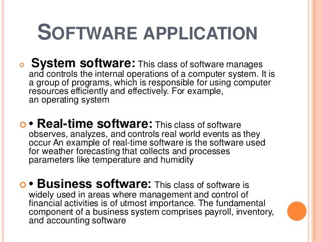 Introduction to software engineering components characteristics a software application malvernweather Image collections