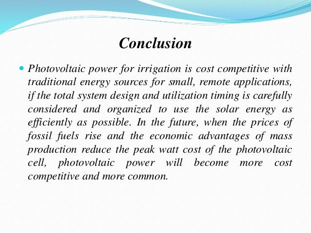 The Future of Solar Energy: A summary and recommendations for policymakers