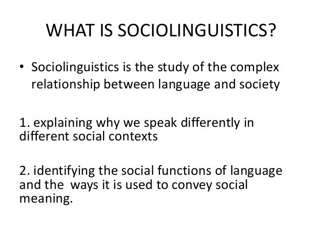 introduction to sosiolinguistics