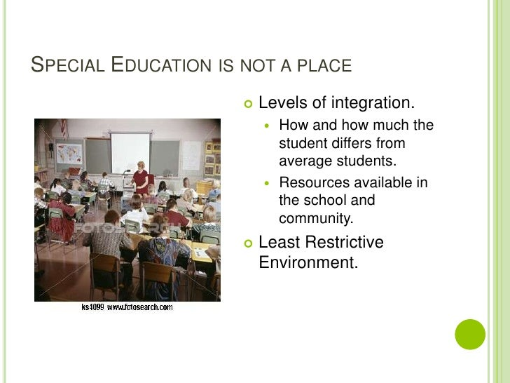 Over Representation of African American Students in the Special Education System.