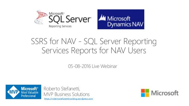 SSRS (SQL Server Reporting Services) Reports for NAV Users