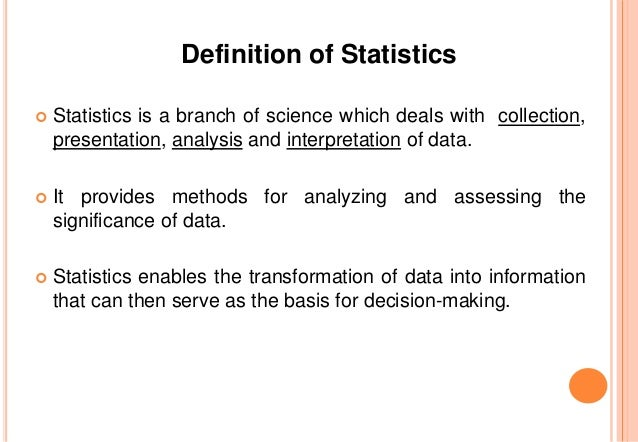 Introduction to Statistics (Part -I)