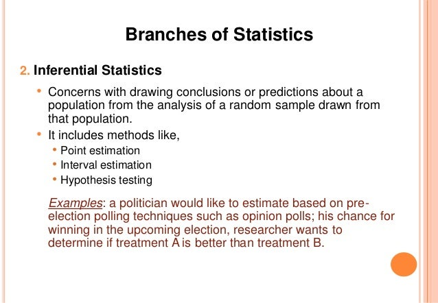 what are the two branches of statistical methods