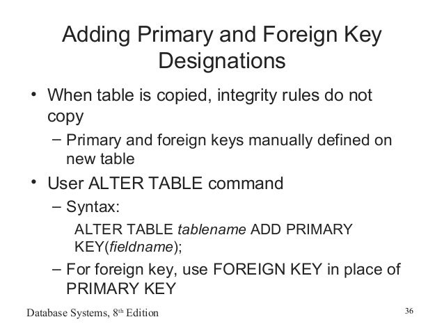 in rdbms relationship between tables are created by using which key
