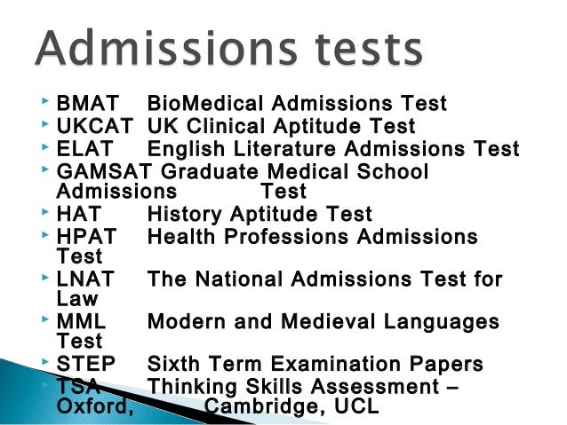 Preparing for the bmat biomedical admissions test essay