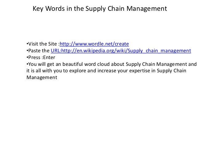 operation and supplychain management Jacobs and chase continue to lead the field of operations management with cutting edge up-to- date content, technology, and motivation now, in this first.