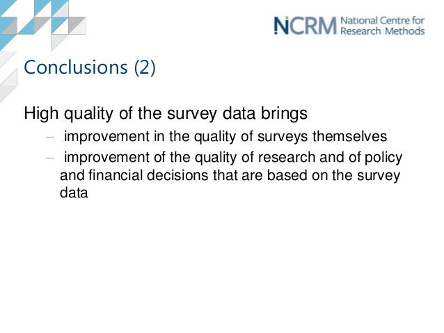 Introduction To Survey Data Quality border=