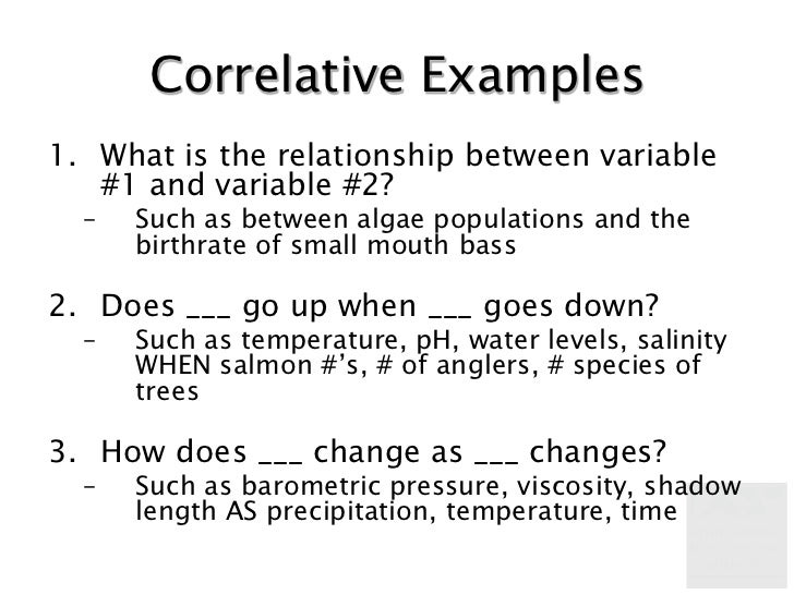 correlative relationship questions