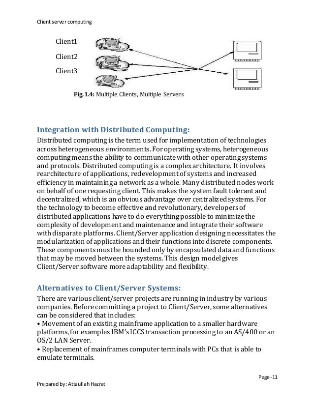 Introduction to the client server computing By Attaullah Hazrat