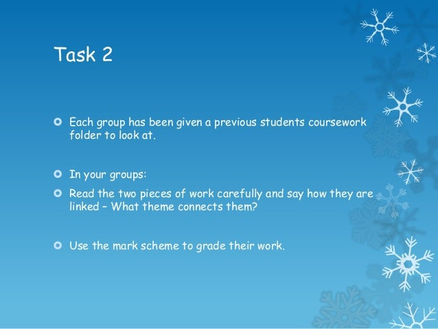 coursework introduction Coursework: coursework outline chapter 1 - introduction  your introduction should be a piece of writing describing what you are studying and giving the background.