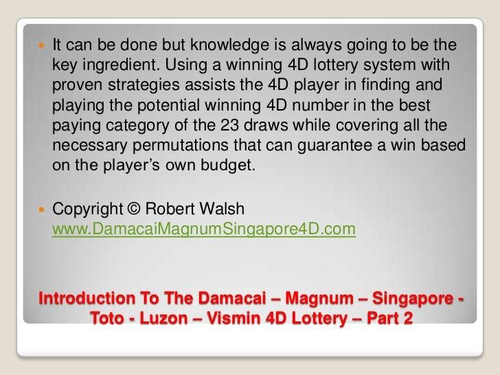 Introduction To The Damacai – Magnum – Singapore Toto