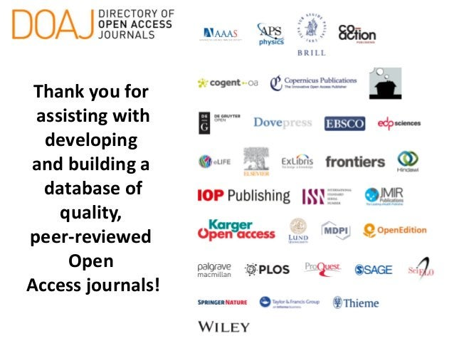 Introduction to the Directory of Open Access Journals