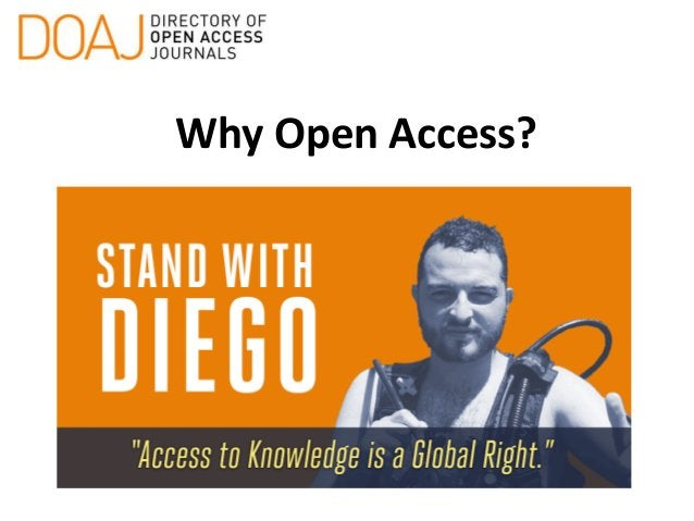 Why Open Access?