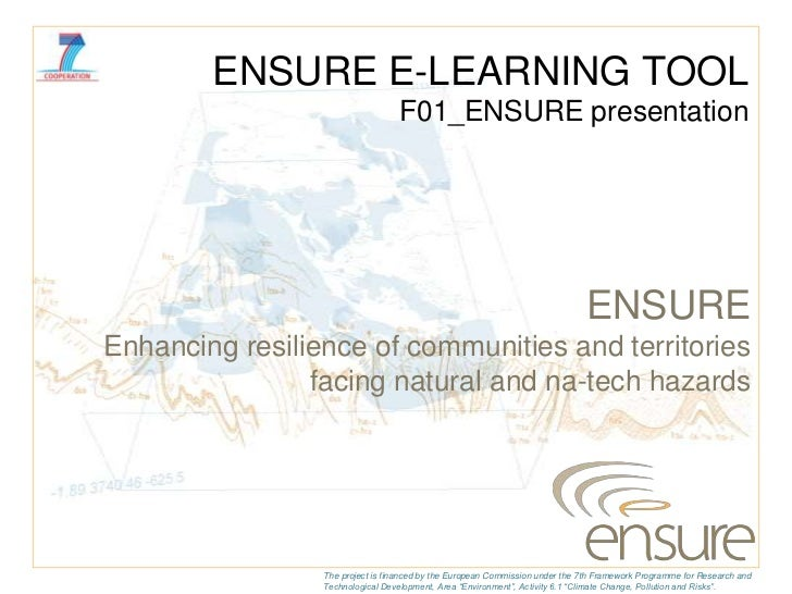ENSURE E-LEARNING TOOL                                  F01_ENSURE presentation                                           ...