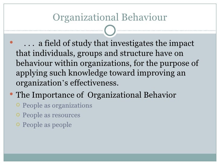 organizational behavior capacity building with knowledge Transformational leadership: the impact on organizational and personal outcomes personal and organizational behavior related to leadership demands a sustain a context for building human capacity by identifying and developing core values and.