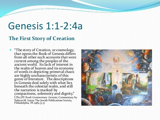 Introduction to the first story of creation notes