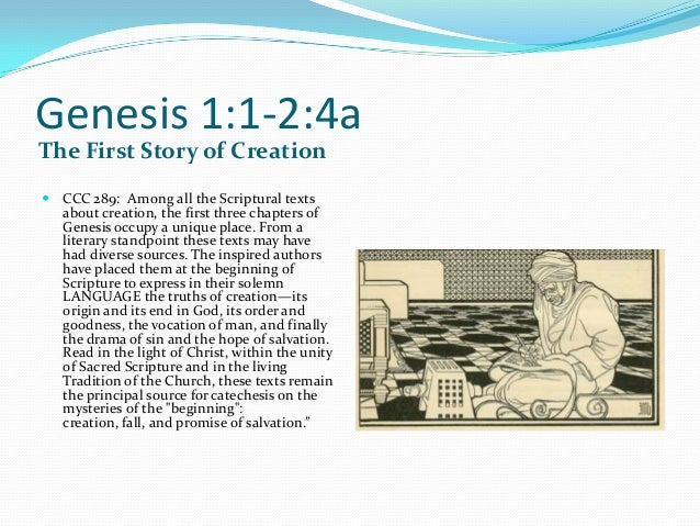 an introduction of inconsistencies in the religious story about creation Mesopotamian culture by analyzing the style and structure of the creation story inconsistencies and fallacies within myth have been exposed with the • • creation stories & modern theory.