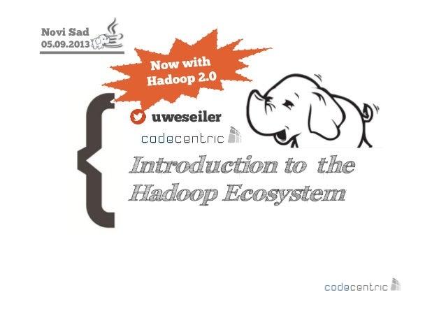 Novi Sad 05.09.2013 Introduction to the Hadoop Ecosystem uweseiler
