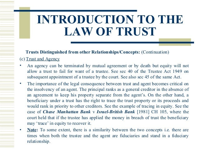 equity and trust law essays