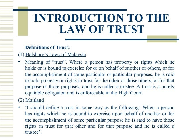 Image result for trust law