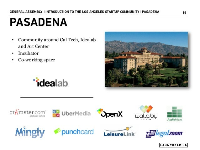 Introduction to the Los Angeles Startup Community Slide 19