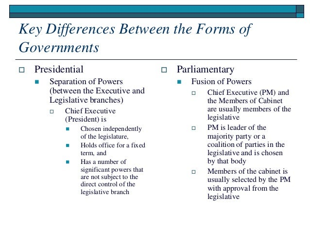 What Are The Key Differences Between An Executive And A Non >> Introduction To The Ministerial Form Of Government