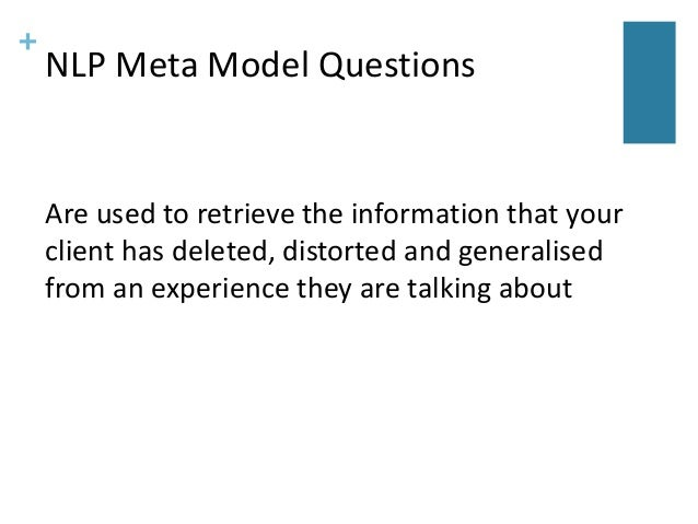 Introduction to the NLP Meta Model - NLP Business Coaching ...