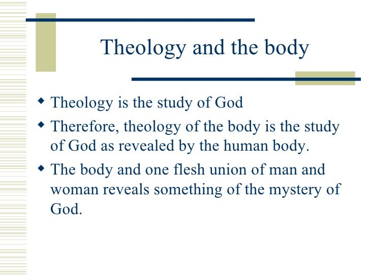 theology of the body explained Catholic thinker dr alice von hildebrand has criticized theology of the body   adam and eve even though they were naked, she explained.